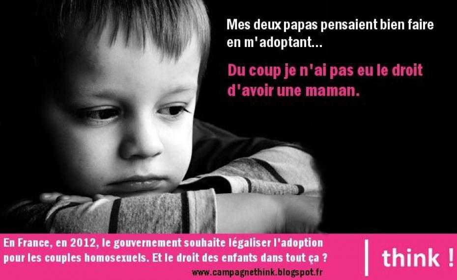 Graphiques contre l'adoption gay